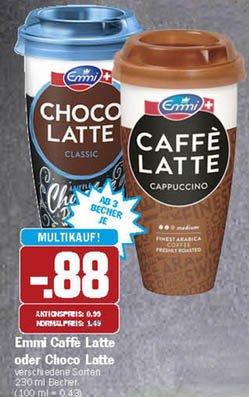 [HIT] Emmi Caffe/Choco Latte, 3 Becher für 2,64Euro, mit Scondoo effektiv 1,14Euro = 38Ct pro Becher