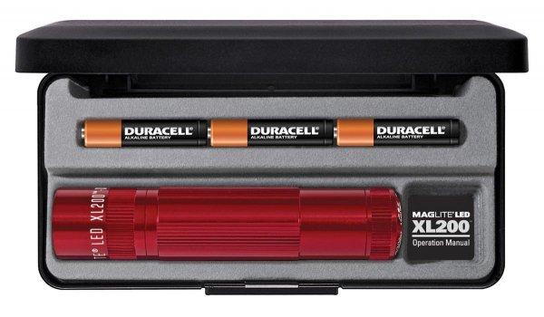 [Amazon-Prime] Mag-Lite XL200 Taschlampe, 172 Lumen, rot, 12 cm mit 5 Modi
