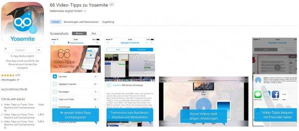 [iOS] 66 Video-Tipps zu Yosemite auf iPad & iPhone (erstmals kostenlos!)