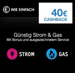 40€ Qipu Cashback für Strom/Gas Anbieterwechsel (E WIE EINFACH)