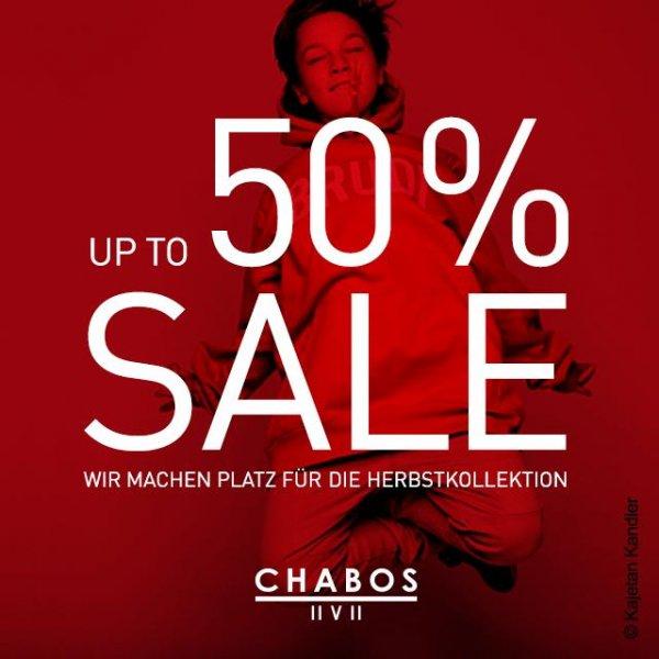 [Online] Summer-Sale: Bis zu 50% Rabatt im Chabos Store