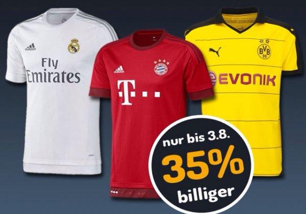 FC Bayern, BVB und Real Madrid Trikots -35%
