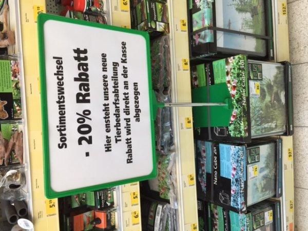 20% auf Aquariumartike und 50% auf Pflanzen @Hella Hessental / Schwäbisch Hall