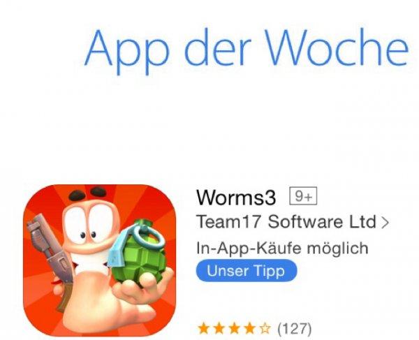 [ios] Worms 3 im App Store gratis als App des Tages