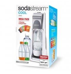 Sodastream Cool Grau Vorteilspack für 25,98€ bei Hitseller (Gerät, Kanister, 4 Flaschen, Sirup Proben)