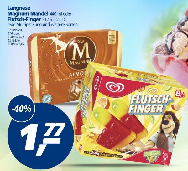 (Real) Langnese Multipackungen (z.B. Magnum oder Flutsch-Finger) für 1,77 EUR
