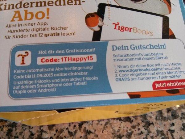 Tigerbooks - Kinderbuch Flatrate einen Monat gratis (keine automatische Verlängerung)
