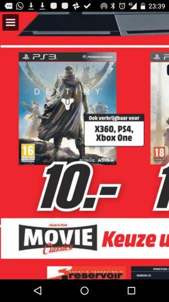 lokal Grenzgänger Mediamarkt.nl DESTINY für PS3 / PS4 / XBOX360 und XBOX ONE für 10 Euro
