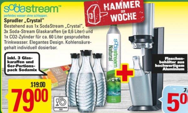 Marktkauf Sodastream Crystal Megapack mit 3 Karaffen