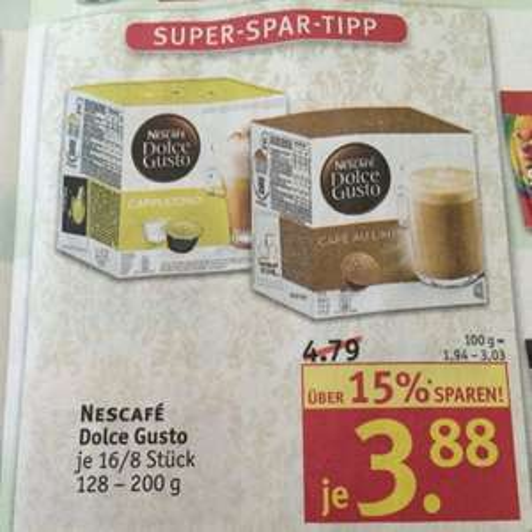 [Rosmann] Dolce Gusto Kapseln 3,88€