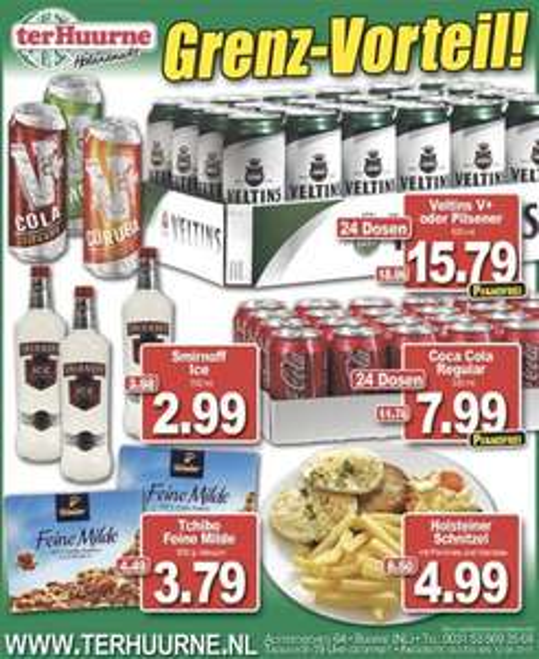 [Ter Huurne NL] 24 Dosen Veltins / V+ (15,79€), Cola Dosen (7,99€) ohne Dosenpfand