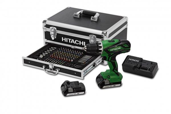 """Hitachi Akku-Schlagbohrschrauber """"DV 18DJL"""" + Bitset 100-teilig, inklusive Hitachi-Alu-Koffer für nur 174,85 € statt 203,92 €, @ZackZack"""