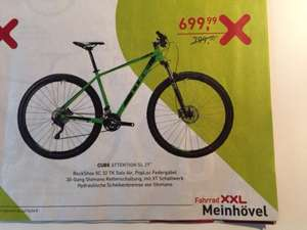 "[Gelsenkirchen, Bochum] [Fahrrad XXL] Cube Attention SL 29 "" 2015 Modell"