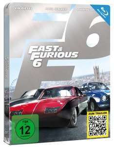 Fast & Furious 6 (Steelbook) [Blu-ray] [Limited Edition] für 9,98€ @Media Dealer