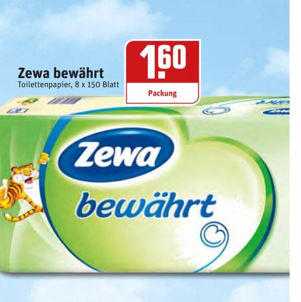 ZEWA Bewährt 8x150 Toilettenpapier bei REWE Dortmund