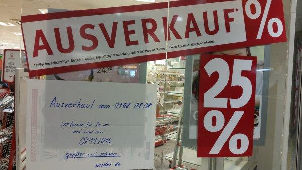 [Berlin Ringcenter][Rossmann] 25% auf alles wegen Ausverkauf