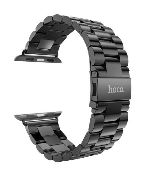 Schwarzes Gliederarmband für Apple Watch (von Hoco)