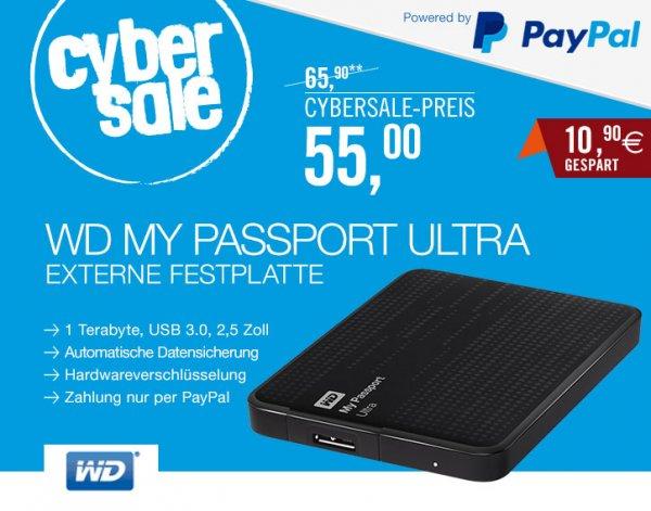 [Cyberport Cybersale] WD My Passport Ultra 1TB USB 3.0