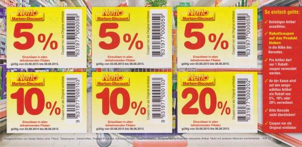 [Lokal? Kassel] Netto (Markendiscount) - 5%/10%/20% Rabatt auf einen Artikel