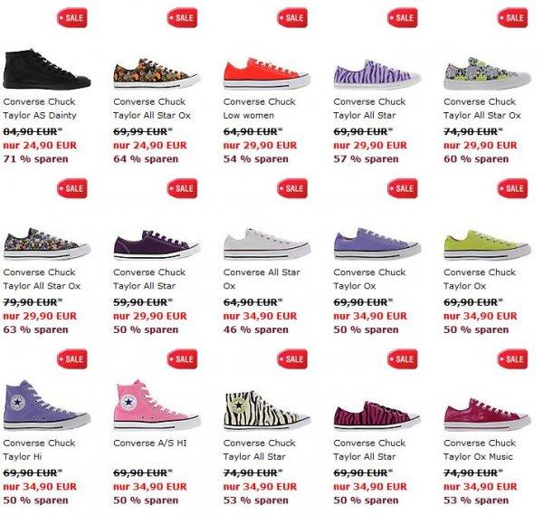 Converse Chucks ab 27,90€ in vielen verschiedenen Farben