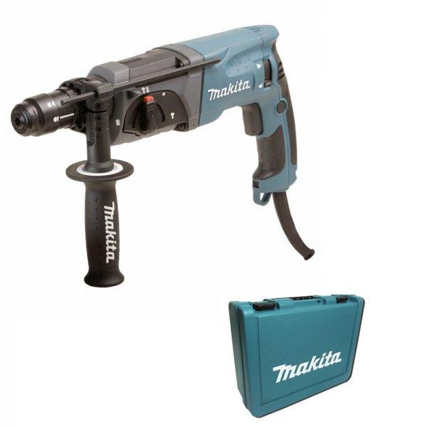 Makita HR2470FT Bohrhammer inkl. Koffer + Makita D-42444 Bohrer- und Meißelset, 17-teilig  im Alu-Koffer, versandkostenfrei für nur 179,00 €, @redcoon
