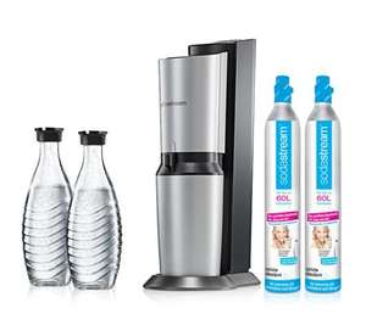 SodaStream Crystal inklusive 2 Glaskaraffen und 2 CO2-Zylindern ab 100,82€ @QVC