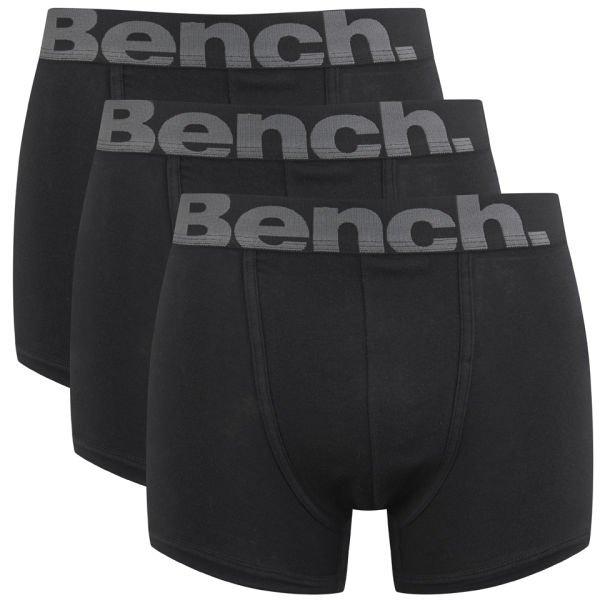 [online]3er Pack Bench Boxershorts S-L schwarz/grau