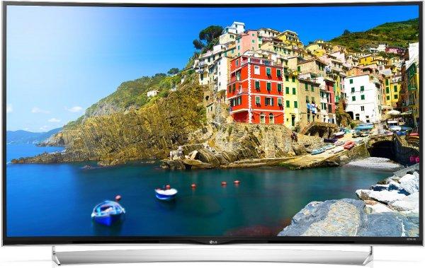 @Amazon Blitzangebote: LG 65UG8709 164 cm (65 Zoll) Curved Fernseher (Ultra HD, Triple Tuner, 3D, Smart TV) [Energieklasse A+]  plus Gratis LG G3 Smartphone für 2499,99 € / Idealo ab 2998€