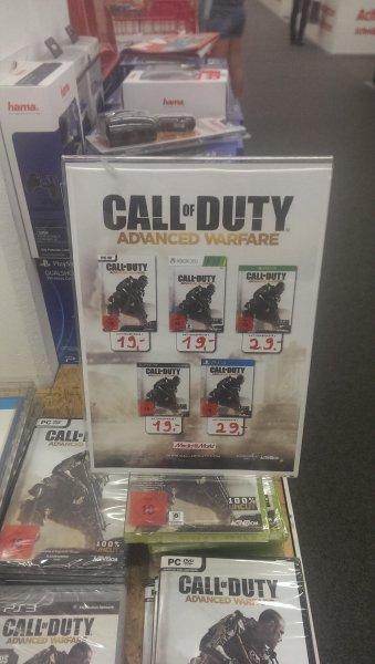 (Lokal Mediamarkt Berlin Schloss) Call Of Duty Adwanced Warfare Ps4 und Xbox One 29€, andere Konsolen und PC 19€