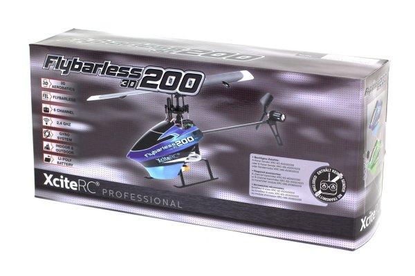 [Amazon-Prime] XciteRC 14000120 Ferngesteuerter RC Hubschrauber Flybarless 200 3D RTF 2.4 GHz mit M6i 6 Kanal Sendermodul FHSS, blau/schwarz
