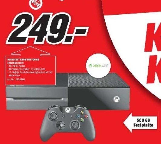 [Lokal Mediamarkt Neuburg an der Donau] XBoxOne Console,500GB für 249,-€