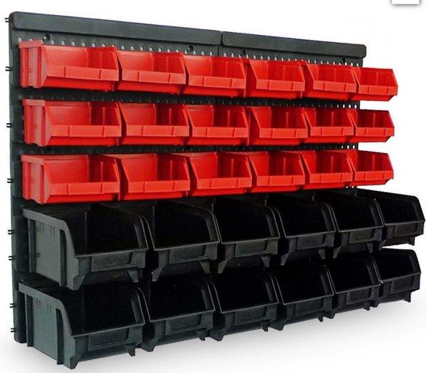 [wieder da!]Wandregal mit 30 Stapelboxen (32 tlg.) für 17,95€@ebay