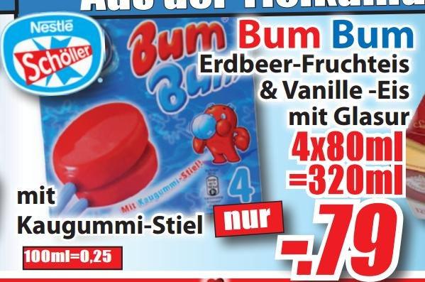 [lokal OWL Magowsky] NESTLE SCHÖLLER Bum Bum 4er-Packung für 0,79 €