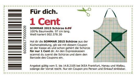 [Lokal Frankfurt] IKEA SOMMAR Schürze für 0,01 statt 6,99€