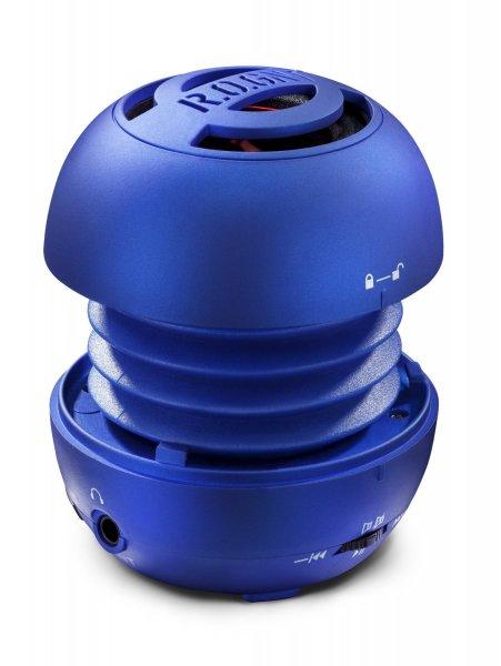 (Amazon.de-Prime) R.O.GNT tragbarer MP3 Lautsprecher Blau mit FM-Radio, Micro SD-Karten, USB ansch. für 6,58€