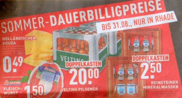 [lokal Edeka Dorsten-Rhade] 2 Kisten Veltins 20x0,5l oder 24x0,33l bis Ende August 20,00 €