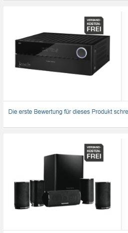 [SaturnLateNight] HARMAN KARDON AVR 370, AV-Receiver, Schwarz + Harman Kardon HKTS 9 BQ (schwarz) - 5.1 Lautsprecher-System 599,-€ Versandkostenfrei
