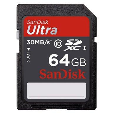2 X SanDisk SDXC Ultra 64GB für 15,38€ (7,69€ pro Karte) @Otto —  [Neukunde]