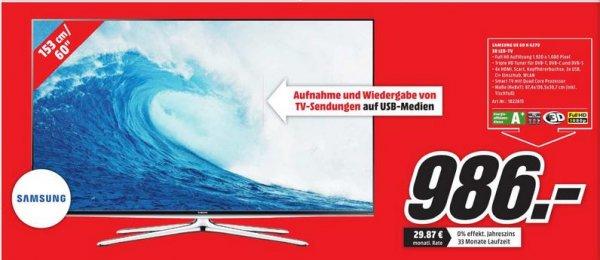 [Lokal Chemnitz] Samsung UE60H6270, 153 cm (60 Zoll), Full-HD, 3D LED TV, 200 Hz, DVB-T, DVB-C, DVB-S, DVB-S2 für 986,00€ @ MediaMarkt Chemnitz