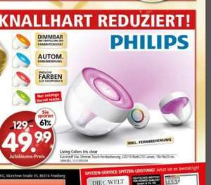 [Lokal] Segmüller Friedberg und Parsdorf Philips LivingColors Iris clear 49,99€ (Idealo 58,99€)