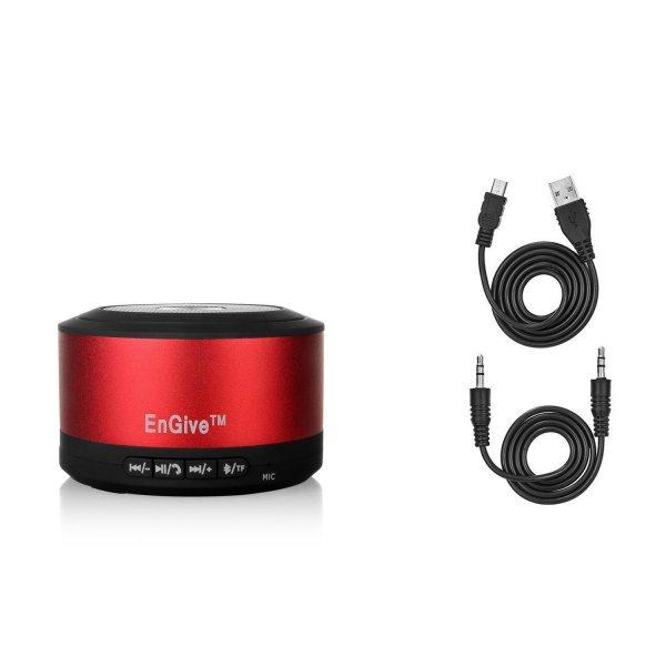 [Amazon-Marktplatz]EnGive Super Bass Mini Portable Aufladbarer Wireless Mobiler Bluetooth Lautsprecher für Smartphones und Tablets (rot)