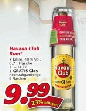 Havana Club 9.99€ bei Marktkauf Markkleeberg (lokal?) + Gratis Glas