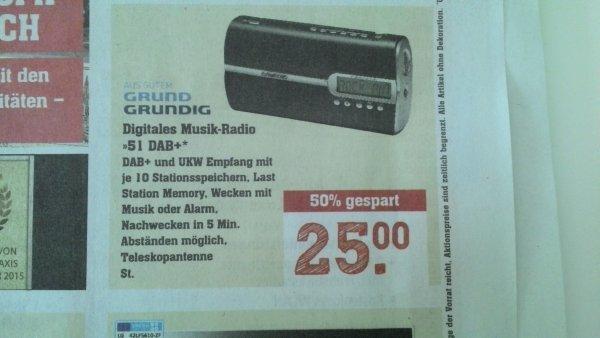[Lokal Rewe Center Darmstadt] Grundig 51DAB+ Digitalradio für 25€ (Idealo: 46,99€)