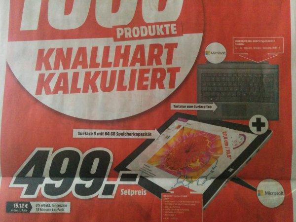[LOKAL MM Porta Westfalica] Microsoft Surface 3 64 GB + Tastatur