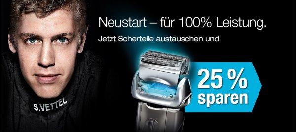 25% Aktion bei Braun Rasierer Ersatzteile!!!