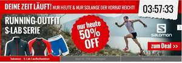 nur für heute: S-Lab Lauf Kollection von Salomon mit 50% auf Bergfreunde.de