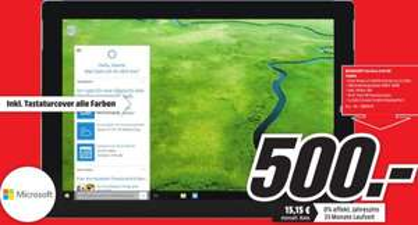 [Lokal MM Wolfsburg ] Surface 3 64GB 2GB RAM inkl. Tastaturcover / Type Cover