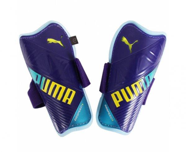 Puma / Evo Speed 5.3 Schienbeinschoner / Lila Gelb F01 / Größen: S, M, L / Keine Versandkosten