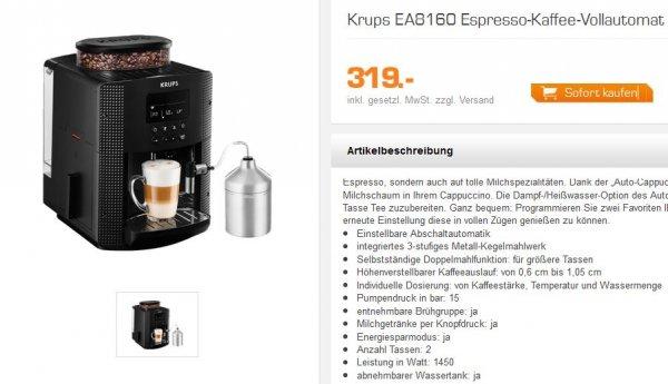 Krups EA8160 Espresso-Kaffee-Vollautomat mit Milch NEU OVP 322,- EURO IDEALO 399,-