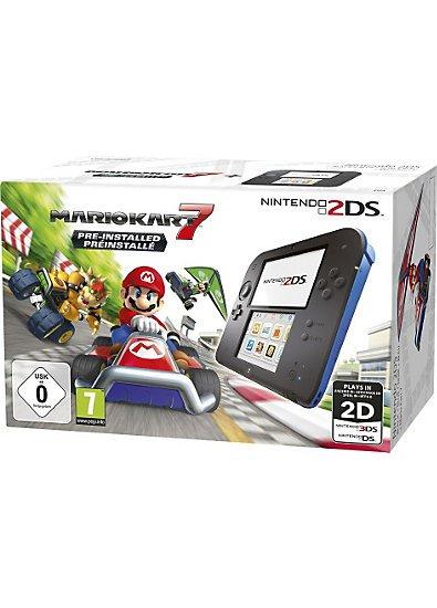 [Payback] 2DS schwarz/blau bzw. weiß/rot mit vorinstalliertem Spiel (Mario Kart 7 bzw. Tomodachi) bei mytoys.de für effektiv 82€